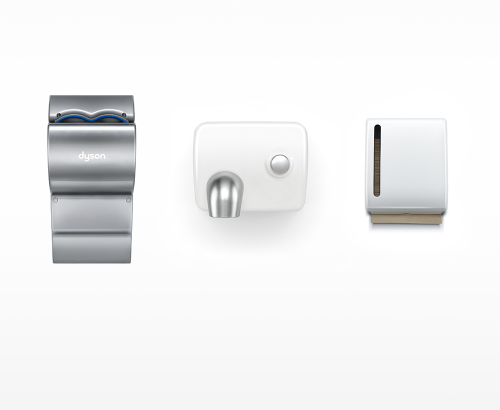 Dyson Airblade dB hand dryer costs compared to paper towels and other hand dryers